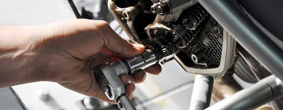 Spring motorcycle maintenance is vital for riding safety.